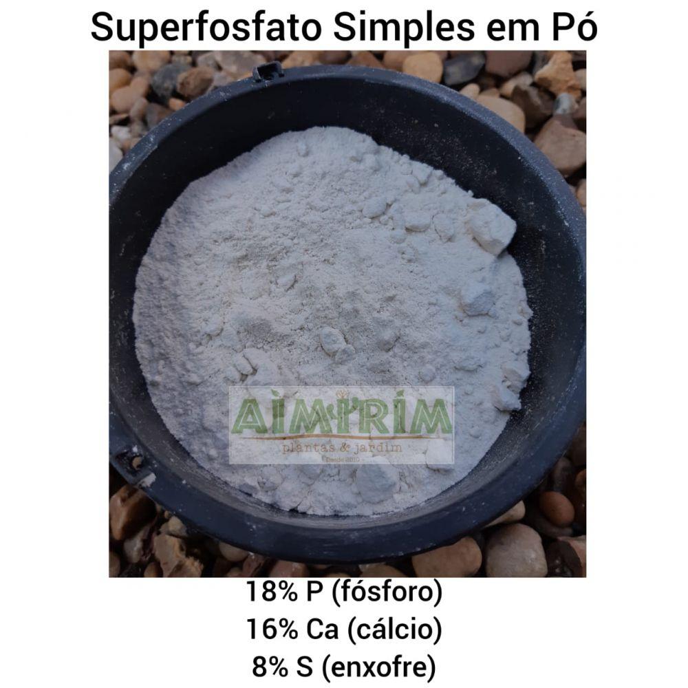 Superfosfato Simples Em Pó Fertilizante 1 Kg