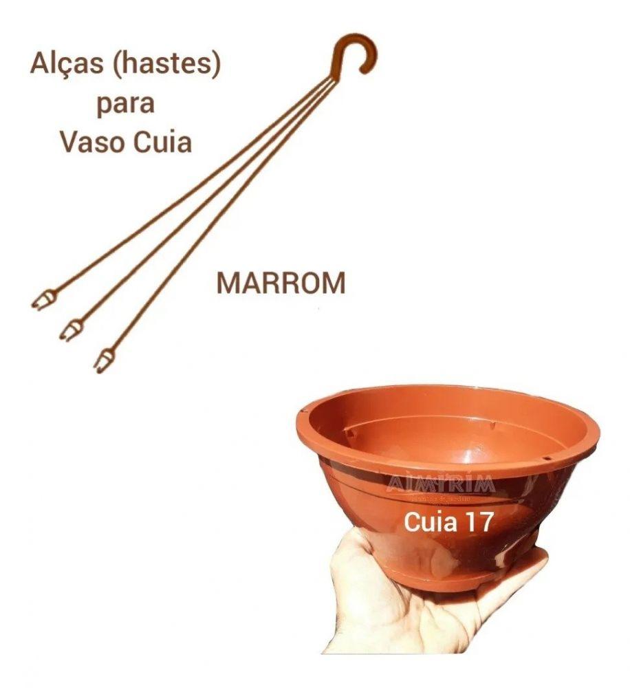 Kit: 100 Vasos Cuia 17 e 100 Alças - Marrom