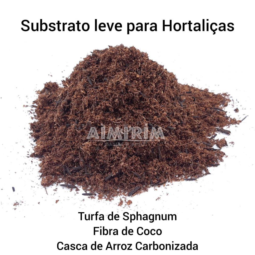 Substrato Leve para Hortas Verticais Turfa + Fibra De Coco + Casca de Arroz Carbonizada - 50 Litros