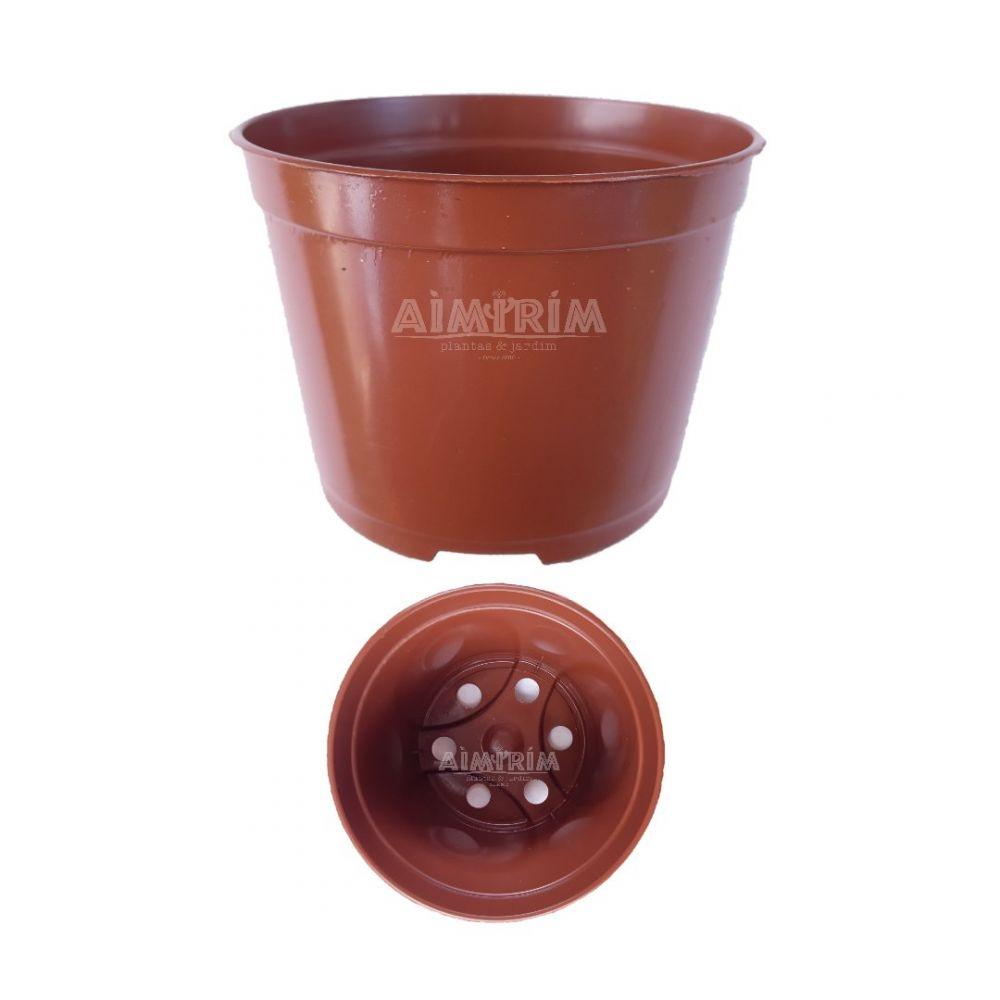 50 Vasos Redondo Pote 7 - Marrom