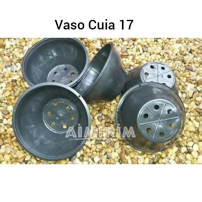 100 Vasos Cuia 17 para suculentas - Preto