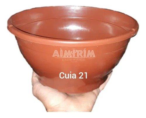 Um Vaso Cuia 21 para suculentas - Marrom