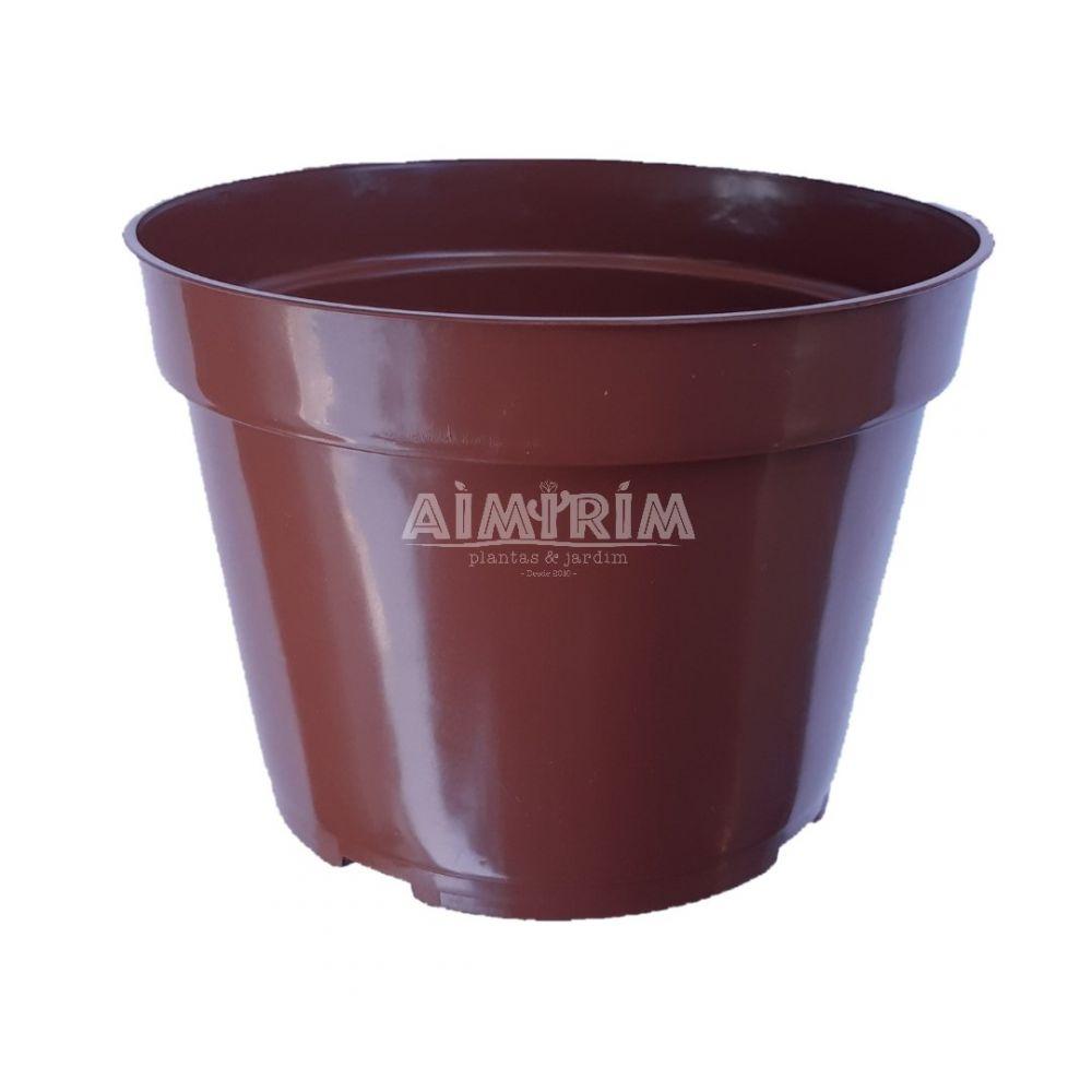 50 Vasos Redondo Pote 13 - Marrom