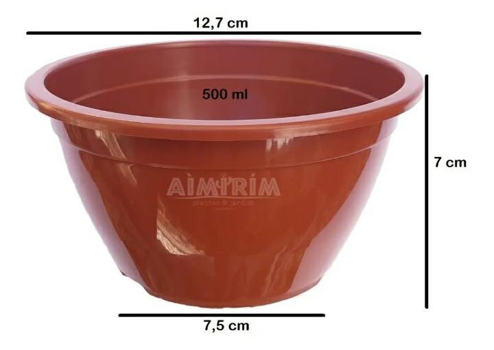 10 Vasos Cuia 13 e 10 Alças para Plantas Pendentes Cactos Suculentas - Marrom