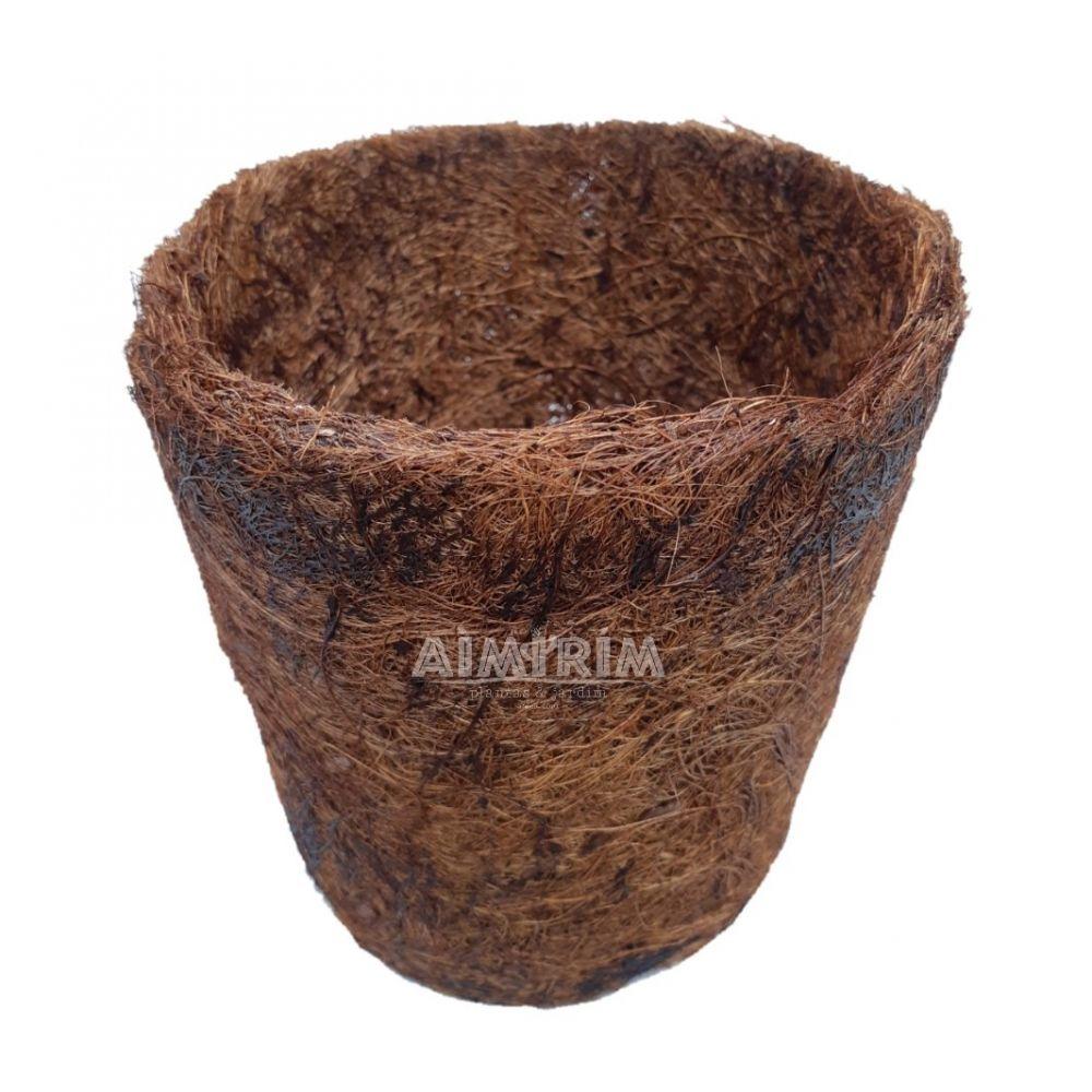 Um Vaso De Fibra De Coco Para Plantas Orquídeas Decoração tipo cone