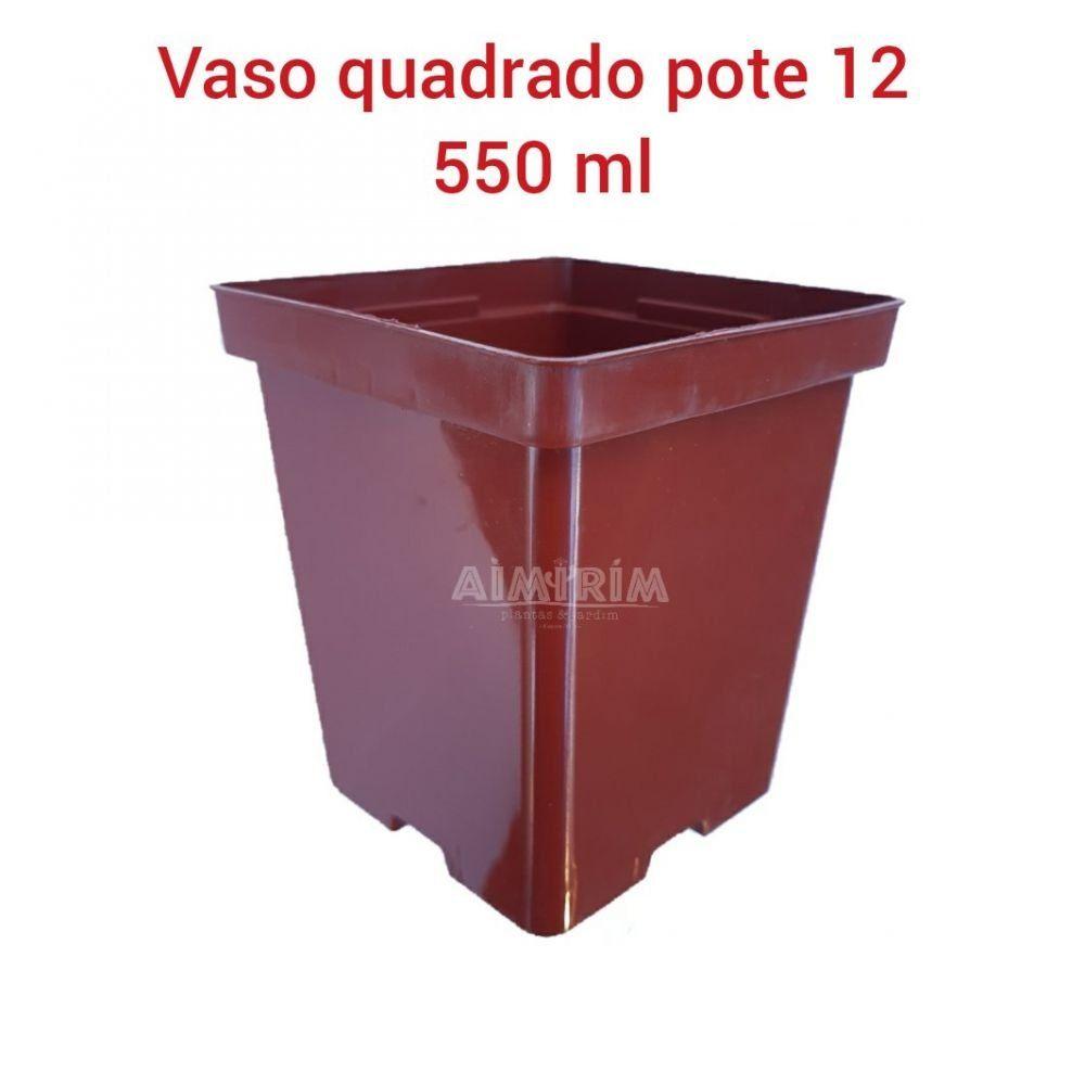 50 Vasos Quadrado 12 (Modelo Novo) - Marrom