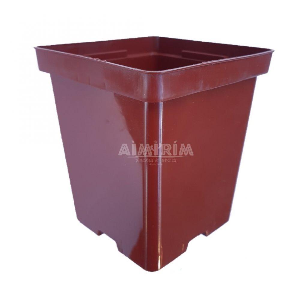 Um Vaso quadrado 12 (Modelo Novo) - Marrom