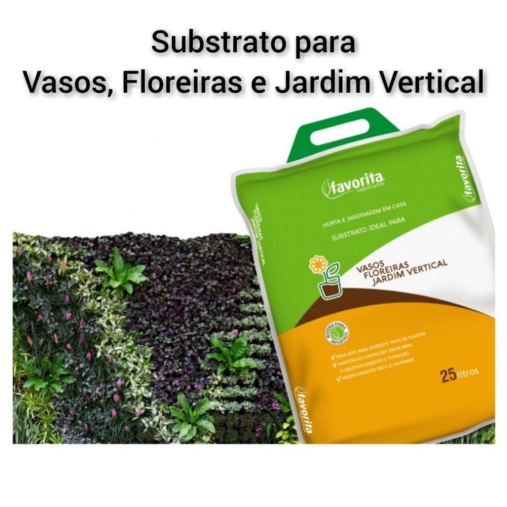 Substrato Ideal Para Vasos Floreiras E Jardim Vertical 25 L